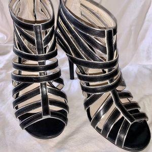 Michael Kors Shoes - MICHAEL KORS Heels Black Silver Caged Sandals